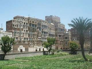 Sana'a - Old Town - Garden and Houses